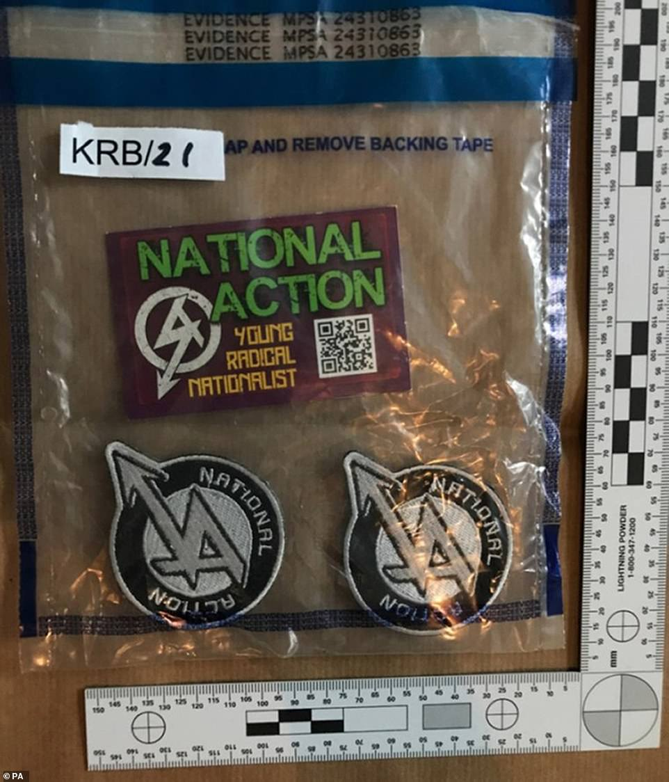 Police found business cards for National Action reading 'Young Radical Nationalist'