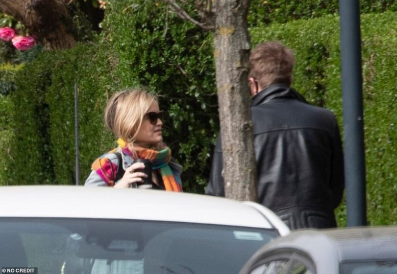 Conversational: The couple chatted to one another after getting out of the car
