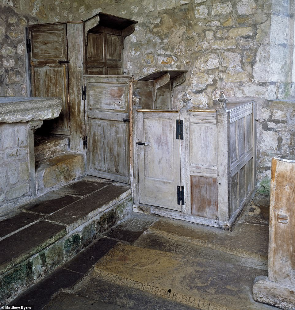 ST MARY'S CHURCH, LEAD, WEST YORKSHIRE: An early 18th-century two-decker pulpit by a local joiner