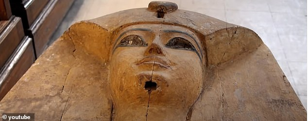 Dubbed the Pharaohs' Golden Parade, the 18 kings and four queens will travel in order, oldest first, each aboard a separate float decorated in ancient Egyptian style.Seqenenre Tao II (pictured), who reigned over southern Egypt some 1,600 years before Christ, will be on the first chariot
