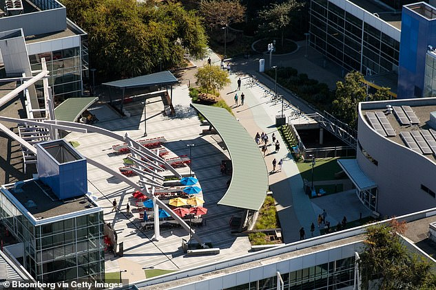 It's unclear how many employees would be allowed in Google's offices (aerial image of Google's Mountain View, California, office)