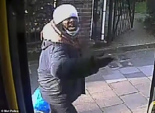 Aidoo got back off the bus after spitting at the driver,who was protected by a screen used a swab to collect a sample which he handed to officers at Lewisham Police Station