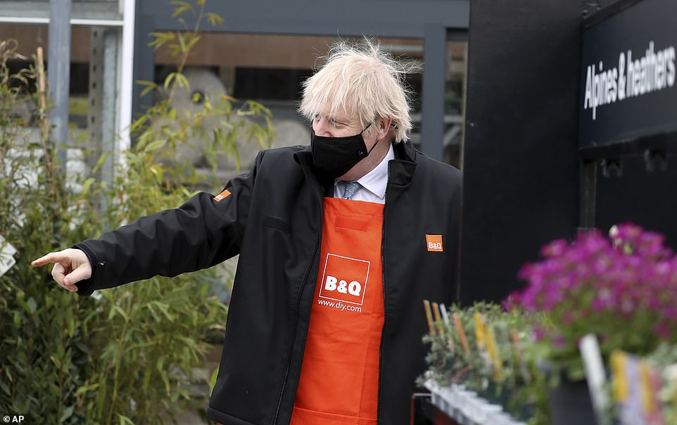 Boris Johnson (pictured today in Middlesbrough) said proof of vaccination and having had a test could help provide 'maximum confidence to businesses and customers in the UK'