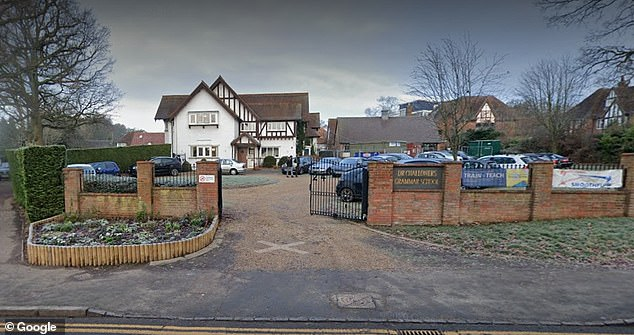 One girl said she had been raped by a pupil from Dr Challoner's Grammar School for boys (pictured) in Amersham, Buckinghamshire, at an 18th birthday party