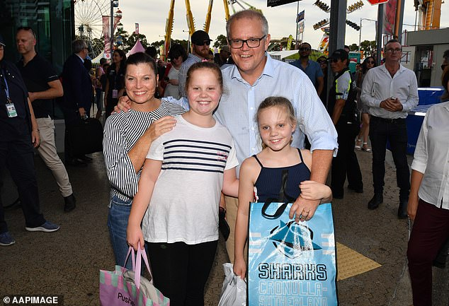 Jenny Morrison said their daughters are looking forward to their Easter chocolate this year. The family are pictured at the Sydney Royal Easter Show in 2019