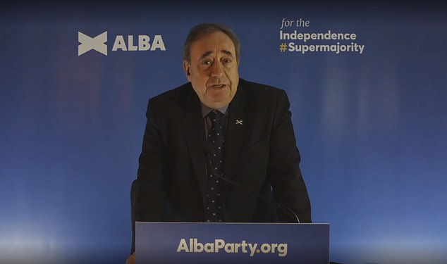 Crushing blow: A new poll revealed Alex Salmond's Alba Party is on track to win just 3 per cent of the votes on the regional list ¿ which would leave the new party without a single seat