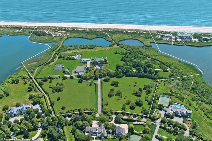 The property is oceanfront and sits on 42 acres with a 20,000-square-foot mansion