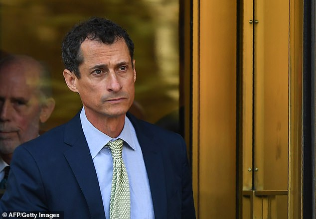 The site, which caters for so-called 'sugar babies' and 'sugar daddies', was at the center of another political scandal when disgraced New York Congressman Anthony Weiner (pictured) used it to meet Sydney Leathers, one of the women he had extramarital sex with