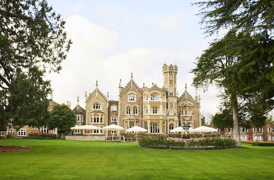 Stately style: The magnificent Oakley Court in Bray is set in 35 acres, which includes a nine-hole golf course