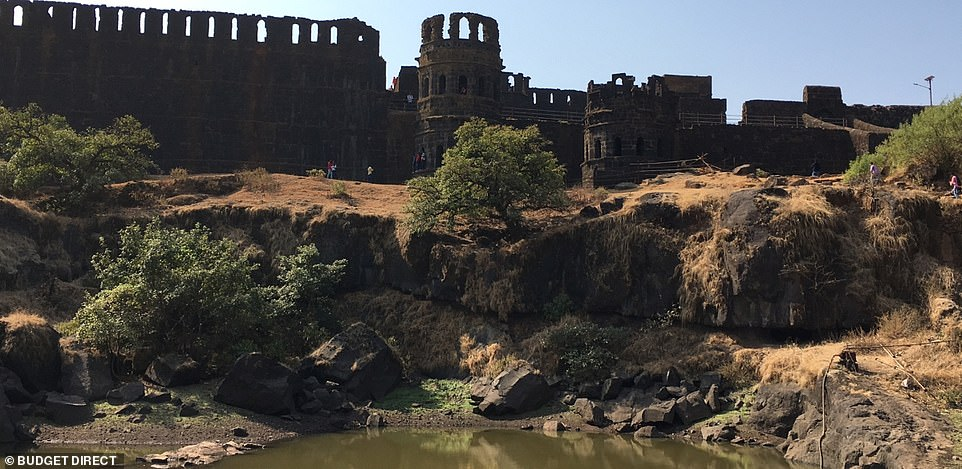 Raigad Fort sits at 820m (2,690ft) above sea level and visitors can climb 1,737 steps to reach it