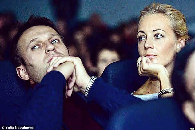 Alexei Navalny and his wife Yulia, the couple have two children together