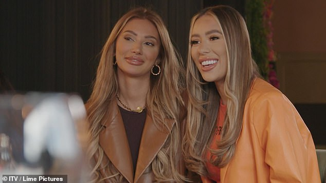 Loved-up: The couple looked besotted with each other as Demi introduced Francesca to the cast and showed her around Essex for the first time