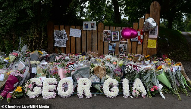 Floral tributes were left at the scene by devastated family and friends after the incident in 2020