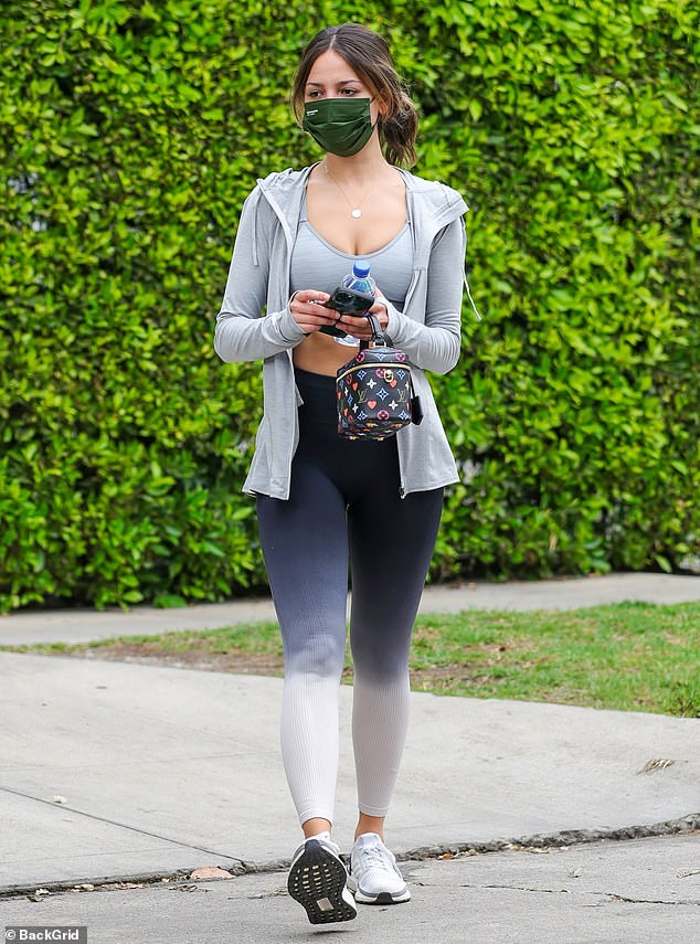 Looking good! Eiza Gonzalez was spotted going for a solo stroll after leaving a Pilates class in West Hollywood on Friday