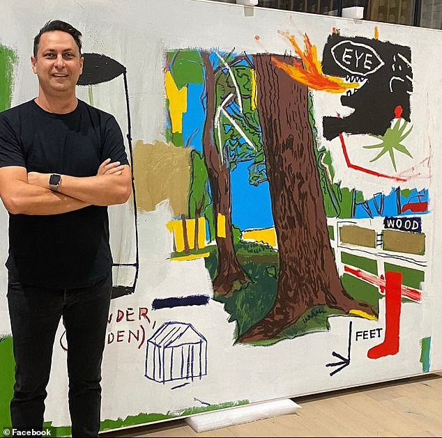 In November 2016, Walshe put the paintings up on eBay for $100,000 each, after which art gallery owner Ron Rivlin (pictured) agreed to buy them for $80,000