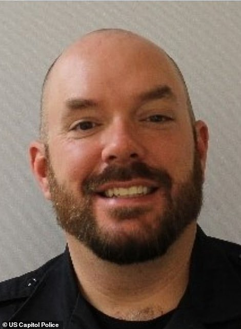 Capitol Police Officer Billy Evans (pictured) was killed on Friday