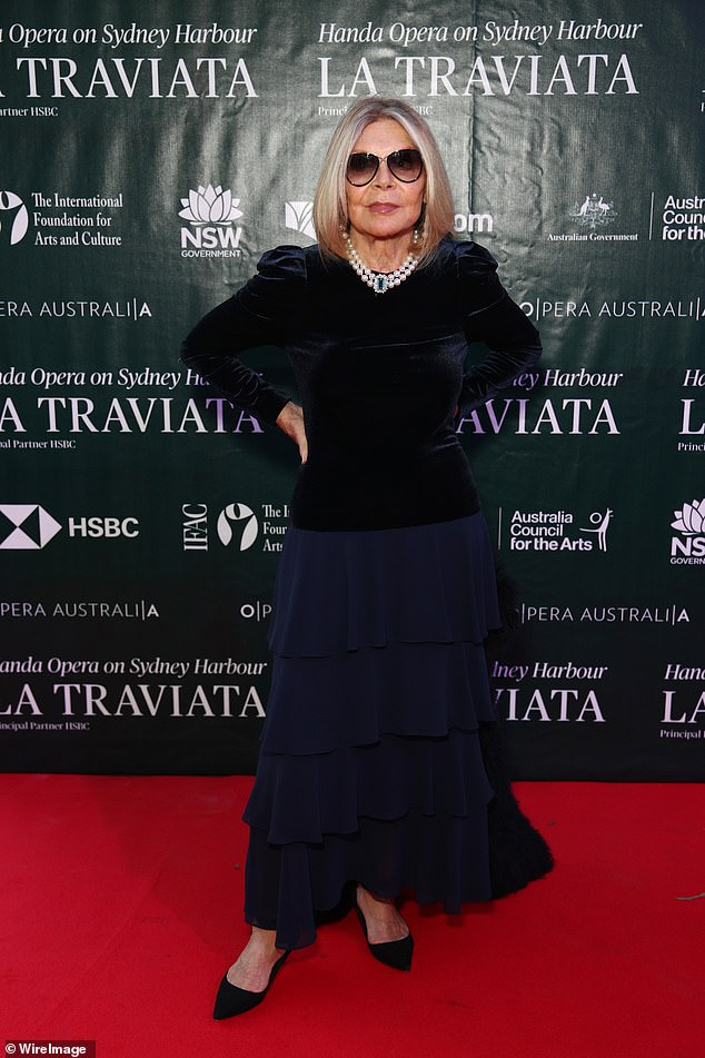 Farewell:Carla, who was 78, passed away after falling down the stairs while attending the opening night of the La Traviata opera on Sydney Harbour last week (pictured)