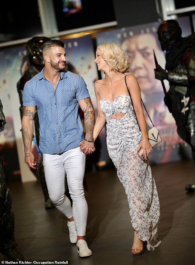 Short-lived: Jessika had only announced her relationship with tattooed Filip on January 20