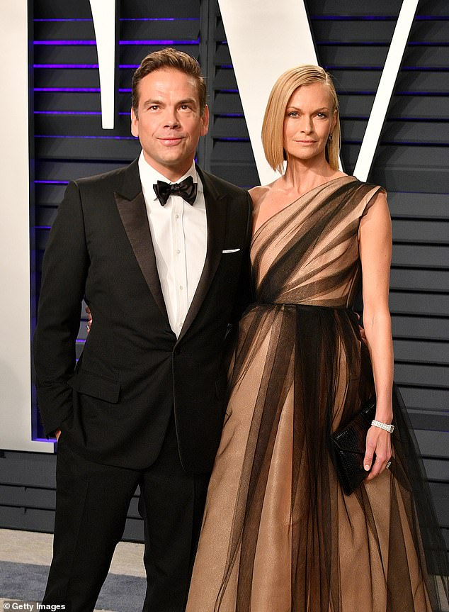 Back Down Under: Fox CEO Lachlan Murdoch, 49, and his supermodel wife Sarah, 48, arrived in Australia on a private jet last month