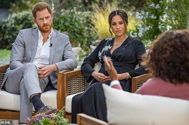Backlash: Piers dismissed Meghan's account (pictured) of suffering suicidal thoughts and experiencing racism at the hands of the Royal Family, insisting that she `` didn't believe a word. ''