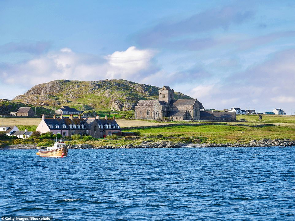 On Iona's maiden voyage around the Hebrides, she willanchor off her namesake, the island of Iona, pictured