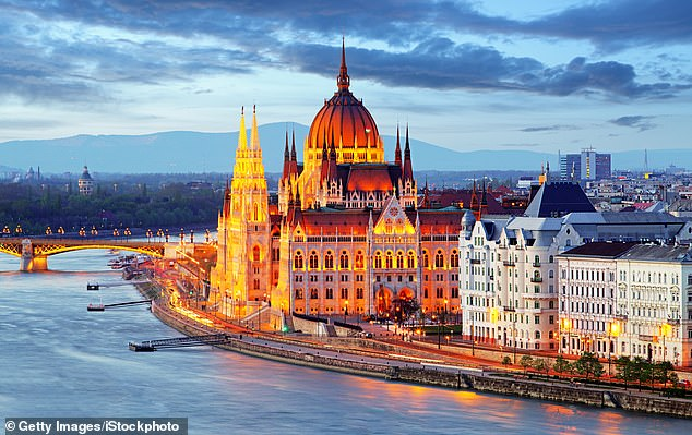 After flying to Budapest (pictured), you'll travel on a stylish Emerald Cruises Star-Ship