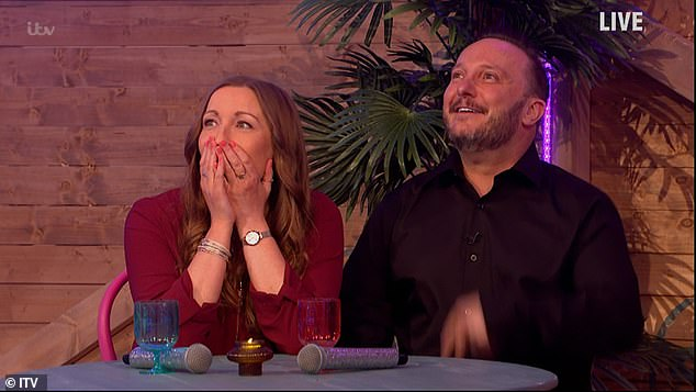 Sweet: Saturday Night Takeaway then showed a sweet segment where guests Neil and Lorraine, who run the online quiz The Virtual Tavern, were surprised on air