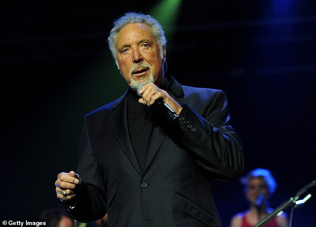 Sad:Sir Tom Jones, 80, has revealed he feared he would not survive his wife Linda's death from lung cancer in 2016