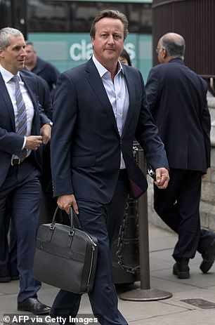 Former Prime Minister David Cameron,who brought Mr Greensill into No 10 as an unpaid adviser on supply chain finance