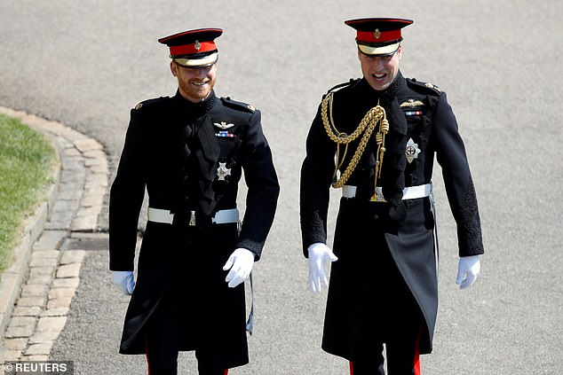 The brothers' reunion will come after Prince Harry made reference to the rift with William during his interview with Oprah (pictured: Harry and William in Windsor in 2018)