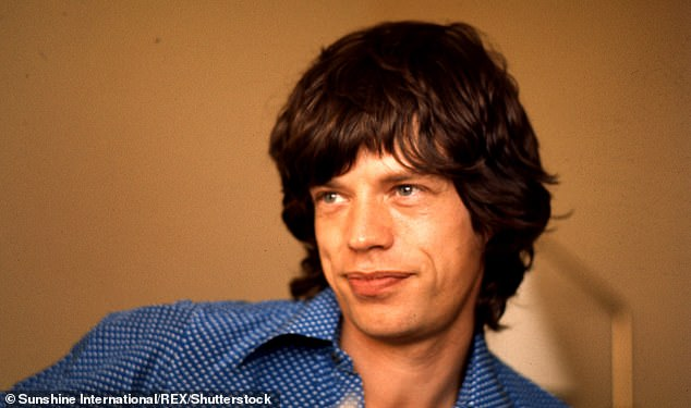 Sleep guru? The Basic Instinct actress said Mick Jagger (pictured in 1972) wouldbuy multiple rolls of aluminium foil and masking tape and put it all over his windows