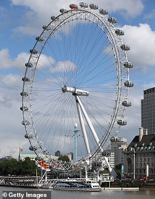 The London Eye (pictured) would also be the backdrop to the race, if proposals are approved