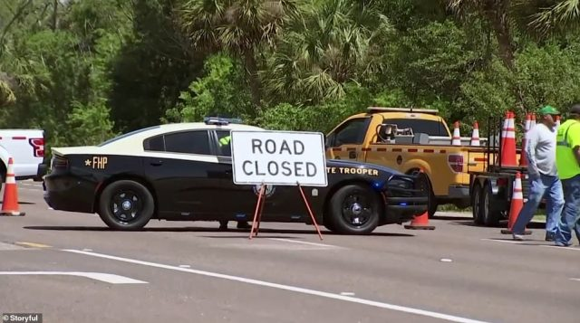 Law enforcement and public safety officials ramped up evacuations around the Piney Point area in Manatee County Saturday
