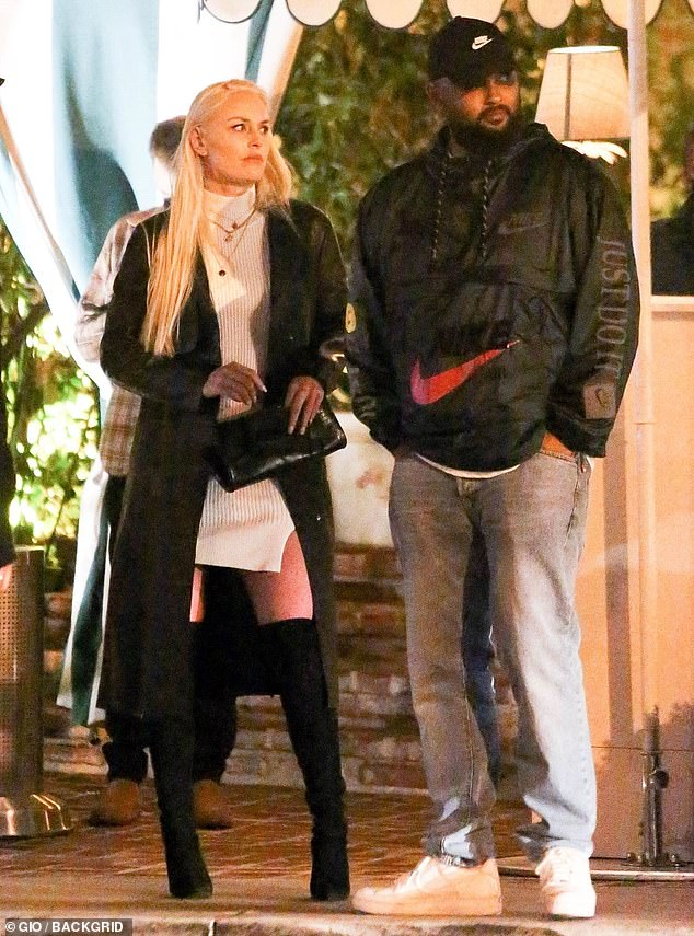 Moving on: Lindsey Vonn looked like a 10 while getting dinner with friends at Santa Monica's trendy The Bungalow on Saturday night
