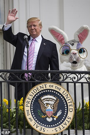 Donald Trump during Easter 2019 at the White House