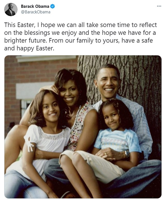 By contrast, former President Barack Obama's Easter message was more conventional