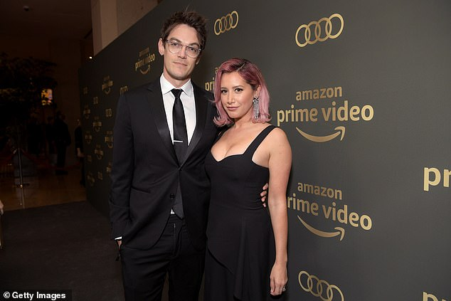 Fast romance: Tisdale and French met in 2012 and became engaged in August of the following year; they are pictured together in 2019