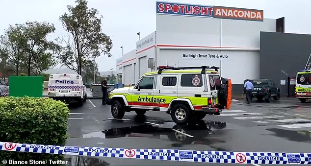 The body was discovered in a bin behind Stockland Burleigh Heads Shopping Centre, on West Burleigh Road, at 7am on Monday