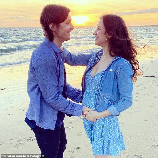 Happy time: The couple last fall revealed that they were expecting their first child.