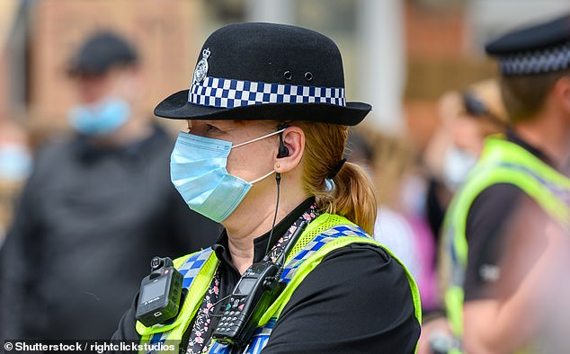 Wiltshire Police has 1,140 female officers and staff compared to 1,101 male employees, a report revealed. A female officer is seen above last year