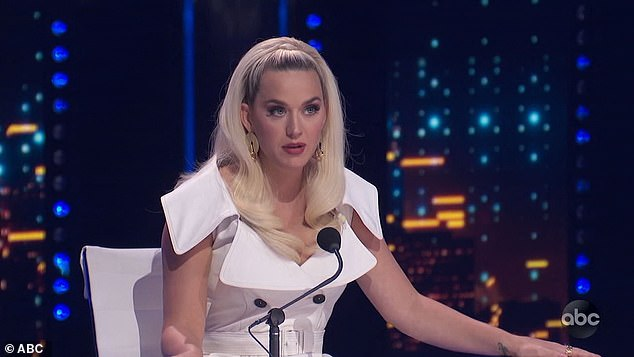 Judge Katy Perry said:'It was goosebumps central, everywhere. It really showcased your voice, and different levels... that you have within you'