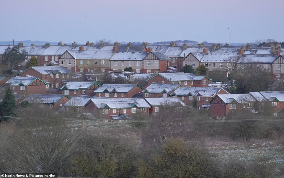 GATESHEAD: A dusting of snow covers rooftops in Sunniside, Gateshead on Easter Monday following overnight snow as the UK enters an 'Arctic trough'
