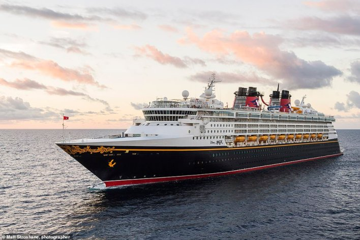 Enjoy family pools and waterslides, but also an adults-only pool and spa on Disney Cruises' Disney Magic ship, pictured