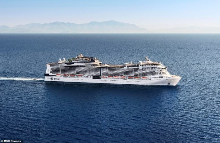 Four-night cruises from Southampton, calling at Portland on the Jurassic Coast, will start on May 20 aboard the new MSC Virtuosa, pictured, costing £499