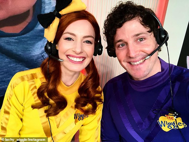 Split:Emma split from ex-husband and fellow Wiggles member Lachlan Gillespie (right) inAugust 2018