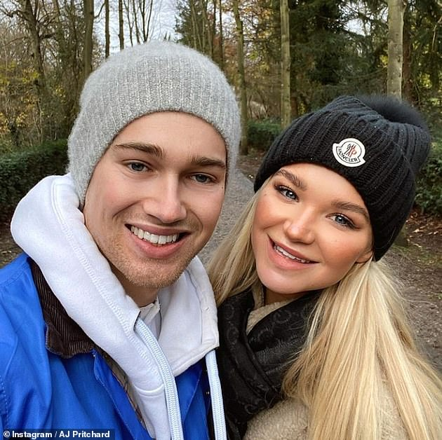 Devastating: In an emotional interview, Abbie also revealed that she asked boyfriend AJ if he 'would still love her' following the terrifying accident (pictured before the accident)