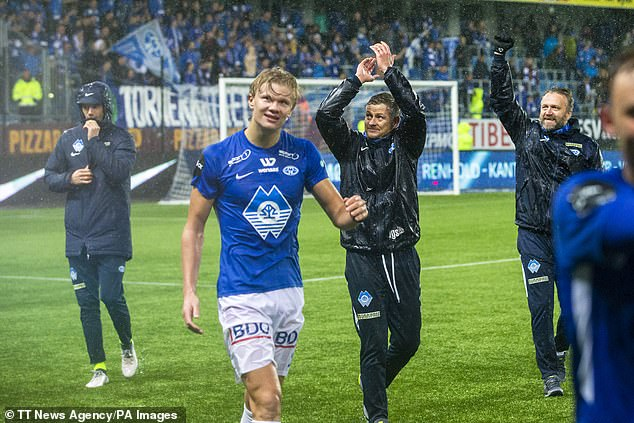 Haaland was much smaller and thinner at Norwegian side Molde but has bulked up since then