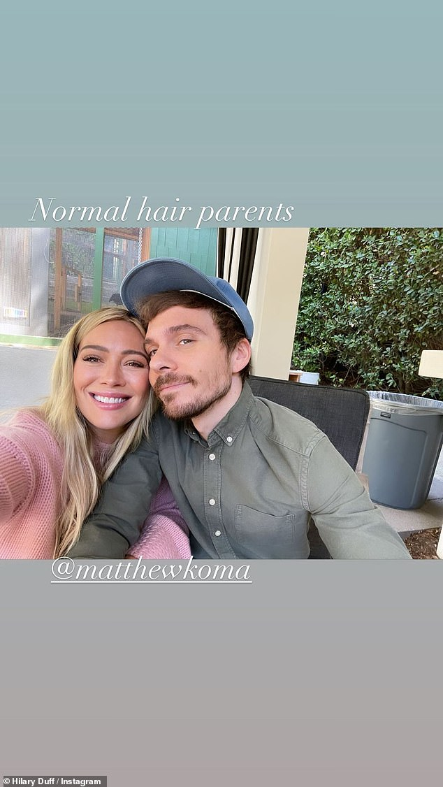 Mom and dad! Duff shares daughters Mae and Banks with her husband Matthew Koma