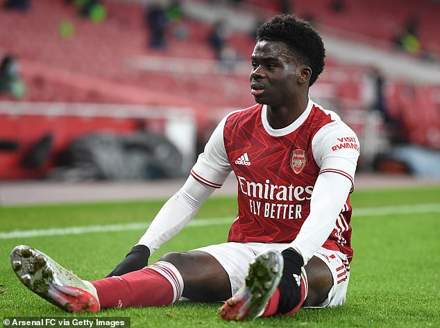 Arsenal were missing Bukayo Saka for their 3-0 defeat against Liverpool on Saturday evening