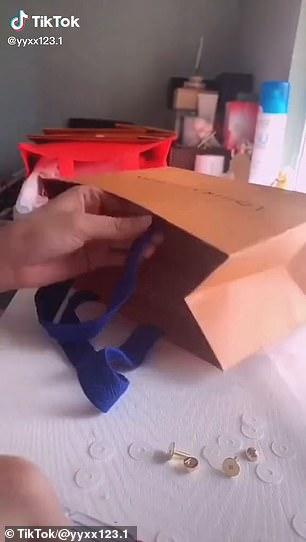 A TikTok account for Tktkbag.com made a similar DIY video